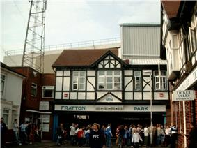 The entrance to Portsmouth's stadium, Fratton Park