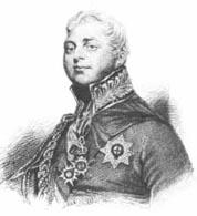 Black and white print of a confident-looking portly man wearing a military uniform with a high collar.