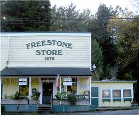 The Freestone general store as of 2007.