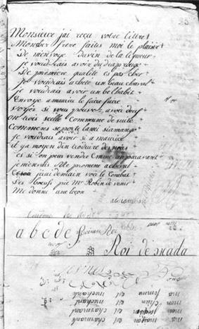 a page covered in French script
