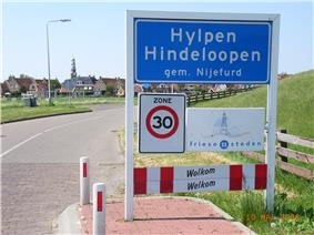 Bilingual signs in Friesland (Netherlands)