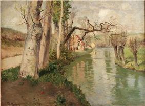 Frits Thaulow-Fra Dieppe med elven Arques.jpg