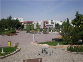 Central square in Fukang City