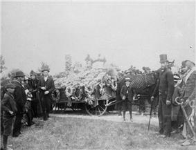 1891 photo of Macdonald's funeral in Cataraqui Cemetery