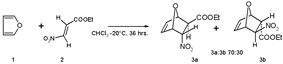 Furan Diels-Alder reaction with ethyl (E)-3-nitroacrylate
