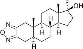 Skeletal formula of furazabol