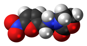 Space-filling model of the furazolidone model