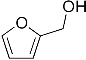 Structural formula of furfuryl alcohol