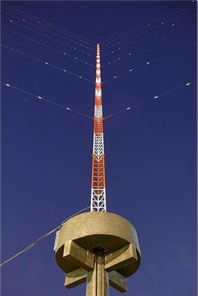 Fuxing Broadcasting Station's Antenna next to the Keelung River