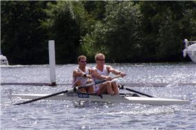 The GB coxless pair of Toby Garbett & Rick Dunn at Henley Royal Regatta 2004