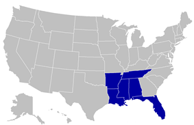Gulf Coast Athletic Conference locations
