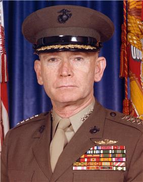 A color image of Paul Kelley, a white male in his Marine Corps dress uniform