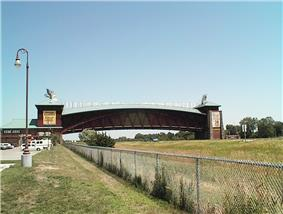 The Great Platte River Road Archway Monument, which spans Interstate 80