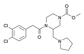 Chemical structure of GR-89696.