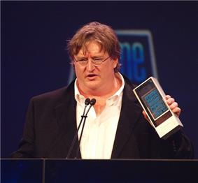 Gabe Newell at Game Developer Conference in 2010