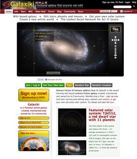 Galaxiki's portal page.