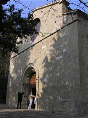 Façade of the abbey of Sant'Ellero.