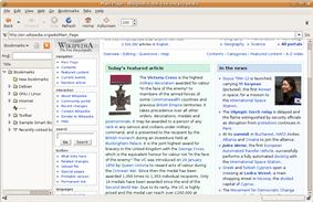 Screenshot of Galeon