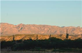 View of the Galiuro Mountains from near San Manuel