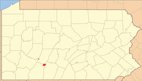 Location of Gallitzin State Forest in Pennsylvania