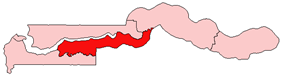Location of Lower River Division in the Gambia