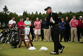 Gary Player swings at the 2009 Gary Player Invitational
