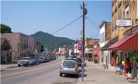 Elk Street (West Virginia Route 4) in downtown Gassaway in 2007