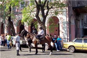 Gauchos at the annual Mataderos Fair