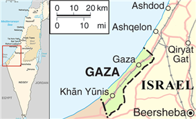 Maps of Israel and Gaza