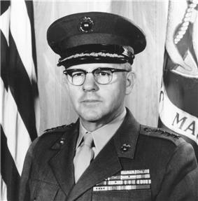 black & white photograph of David M. Shoup