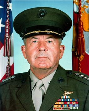 A color image of John Davis, a white male in his Marine Corps dress uniform