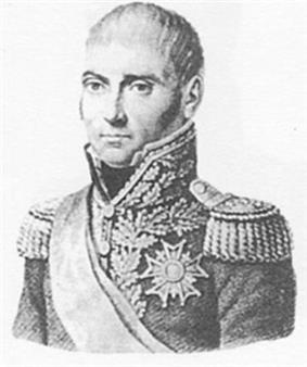 Blank and white portrait of Pierre Dupont in military uniform