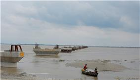 Ghaghra river in Sitapur