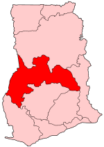 Location of Brong-Ahafo Region in Ghana