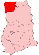 Location of Upper West Region in Ghana