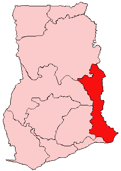 Location of Vola Region in Ghana