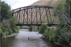 Gimlet Pegram Truss Railroad Bridge