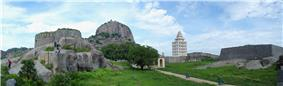 View of Gingee fort