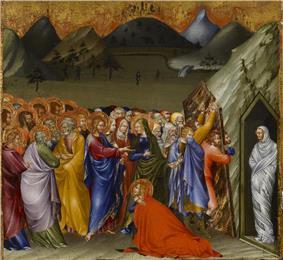 Raising of Lazarusby Giovanni di Paolo