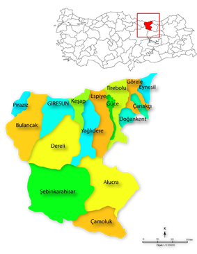 Districts of Giresun