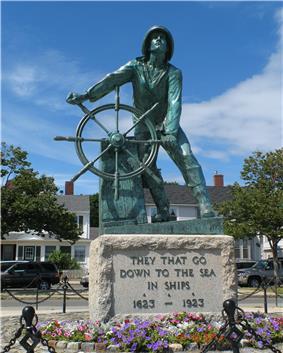 Man at the Wheel, Fisherman's Memorial Cenotaph