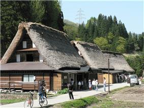 Traditional thatched-roofed homes in Ainokura, Gokayama