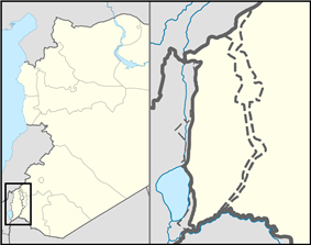 Buq'ata is located in the Golan Heights