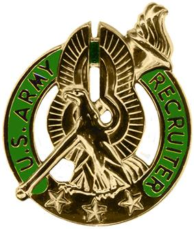 Former United States Army Gold Recruiter Badge