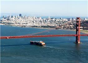 San Francisco and the Golden Gate Bridge from Marin Headlands
