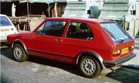 1980 Volkswagen Golf GTI.