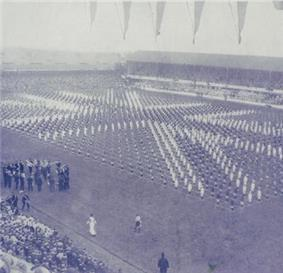 Photograph of ceremony at Goodison Park