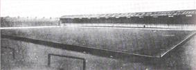 Black and white photograph of Bullens Road stand taken in 1900s