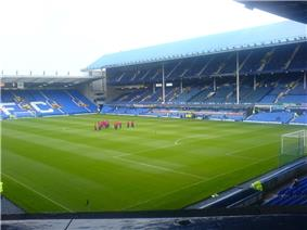 Inside Goodison Park, Everton's stadium