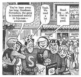 Comic strip panel